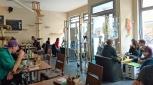 Vorderer Bereich des Cafés direkt an der Türkenstraße © szenemuc.de